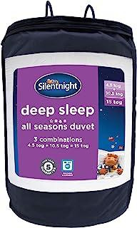 Silentnight Deep Sleep 四季羽绒被 4.5 + 10.5 Tog 单人床 白色 135 x 200cm