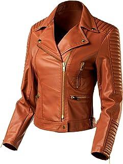 urbandaizy 女式仿皮摩托车夹克