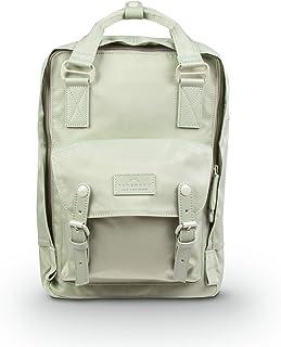 甜甜圈马卡龙自然苍白系列 16L 旅行学校女士大学生轻质通勤休闲背包背包 Lichen