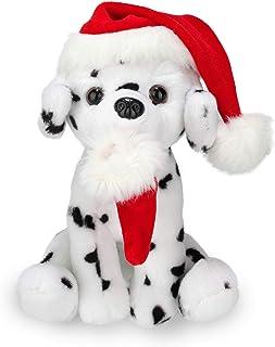 长毛绒圣诞 Pawpal 圣诞老人帽 填充动物毛绒木偶狗 20.32 cm 适合儿童 - 完美的圣诞节礼物 8 inches
