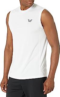 Amazon Brand - Peak Velocity 男式 VXE 无袖速干运动贴身肌肉背心