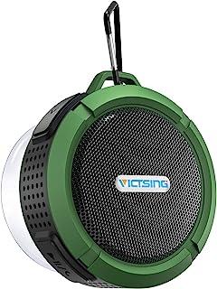 VicTsing 蓝牙淋浴扬声器,户外防水蓝牙扬声器,迷你淋浴音箱,带大声立体声,吸盘和挂钩,便携式蓝牙音箱,适合家庭,户外,旅行