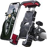 Sanosan 一键式摩托车手机支架,15秒快速安装,1秒自动锁定和释放,高速*开关,摩托车摩托车配件,广泛兼容手机(4…