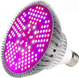 LED 生长灯适用于室内植物,45W 88 LED 定时生长灯自动开/关,带3/6/12H 定时器 5 级可调光级别 3 种开关模式阳光全光谱,360 度鹅颈管 100W 1Pack