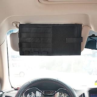 汽车遮阳板收纳袋,多功能汽车内饰配件收纳袋汽车卡车遮阳板保护套袋适用于笔CD卡文件