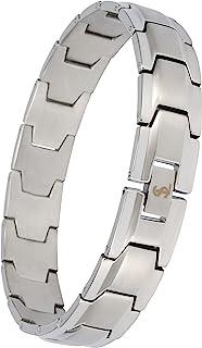 Smarter LifeStyle 优雅*级钢男式宽环时尚手链,4 种颜色可供选择