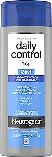 Neutrogena 露得清 T/Gel 日常控制二合一抗*屑洗发水和护发素含维生素 E 和吡哆醇锌,快速缓解*瘙痒和剥落,8.5 液体盎司(200ml)