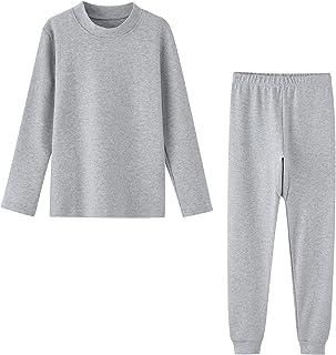 幼儿保暖内衣套装女孩男孩长约翰儿童睡衣睡衣睡衣,3T-7T