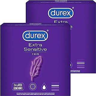 durex 杜蕾斯 敏感和润滑避孕套,24支,2盒装,符合FSA和HSA标准