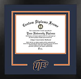 Campus Images 德克萨斯大学,埃尔帕索 11 宽 x 8.5 高 精神文凭曼哈顿黑框附赠平版版画(价值 59 美元)