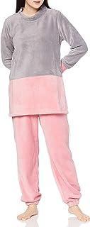 GUNZE 郡是 家居服 COMME CI COMME CA 长袖束腰裤 长裤 摇粒绒 女士