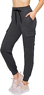 ALWAYS 女士七分裤慢跑裤 - 轻质紧身基本款柔软弹性口袋运动裤