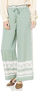 GRACE CONTINENTAL 裤子 双色线条裤 女士 0321111100