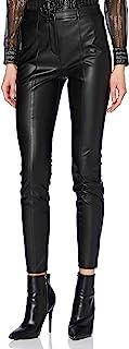 BOSS 女士 C Tratona 修身长裤,由人造革制成,带高腰。