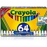 Crayola 可水洗马克笔套装,儿童礼品,凝胶马克笔,窗户马克笔,宽线马克笔,64支装