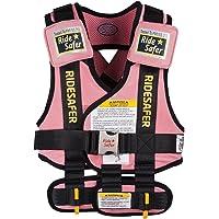 美国艾适RideSafer3穿戴式汽车儿童安全座椅便携背心适于3-6岁(体重13.6-27.2公斤)小号粉色(美国进口…