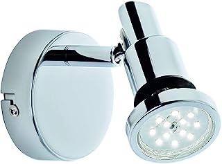 Briloner Leuchten – LED 点灯,墙壁点,浴室灯,IP44,射灯可旋转和旋转,1x GU10,4瓦,400流明,3,000 开尔文,铬,80x106毫米(直径 x 高)