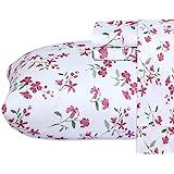 Ruvanti 超细纤维床单套装(女王,花卉粉色回忆)
