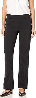 SLIM-SATION 女式弹力束腰靴型纯色裤子,带前侧假口袋
