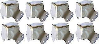 MF-Cases 8x扁平角形角形外壳外壳结构钢镀铬箱盒