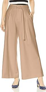 Selford] 带腰带褶宽裤 CWFP201067 女士