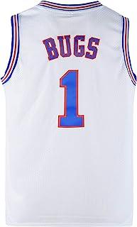 COMTOP 青年昆虫 1 太空电影球衣篮球运动衫男童白色/黑色 S-XL