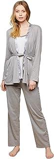Motherhood 孕妇缎面装饰 3 件套睡衣套装护理功能