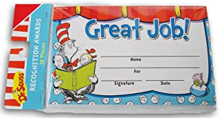 Dr. Seuss Cat in The Hat ''Great Job!''认可*证书 - 18 张