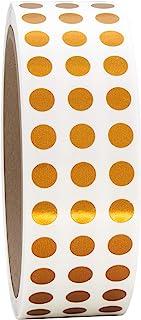 1/4 英寸(约 0.6 厘米)金属青铜圆形彩色编码圆点标签卷,1000 张贴纸。直径 63.5 厘米