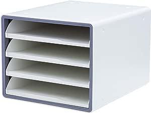 Litem 豪华打开文件柜 灰色