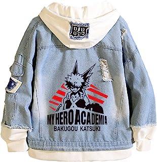 Boku No Hero Academia My Hero Academia 牛仔夹克图案连帽衫角色扮演中性款动漫 款式3 Large