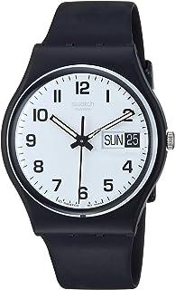 Swatch 女式 GB743 Once Again 黑色塑料手表