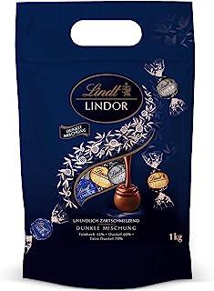 Lindt 瑞士莲 LINDOR 混合口味黑巧克力 单独包装的巧克力球 入口即溶的馅料(含微苦45%/黑巧60%/特浓70%),每种口味27球,1件装(1 x 1kg)