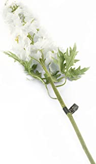 Floral Elegance 人造 105 厘米单茎白色蜡烛湖刺花 x 12