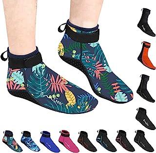 水袜氯丁橡胶袜沙滩短靴鞋 3 毫米胶合盲缝防滑潜水服靴脚游泳袜适合水上运动户外活动