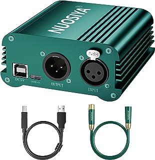 1 通道 48V 幻影电源,带 USB 电缆 NUOSIYA 支持 USB C 充电..
