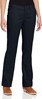 Dickies 女士防皱无褶斜纹裤,防污渍处理