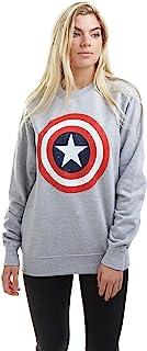 Marvel 女式美国队长盾牌圆领套头毛衣