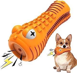 Feeke 狗狗咀嚼玩具,坚不可摧的牙刷橡胶狗狗玩具,适用于强力咀嚼器,大型中型犬牙齿清洁玩具
