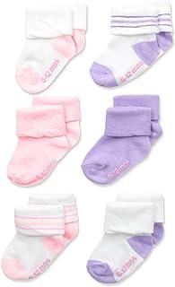 Hanes 女童 6 双装翻边袜