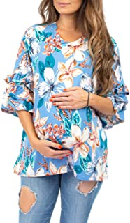 女式荷叶边袖孕妇束腰外衣