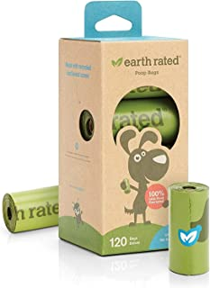 Earth Rated 120-Count Unscented Dog Waste Bags, 8 Refill Rolls