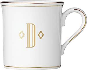 Lenox 联邦金块交织字母餐具 字母 D 874357