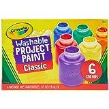 Crayola 绘儿乐 可水洗儿童颜料,6 支装,家庭活动儿童,绘画用品,礼品 多色