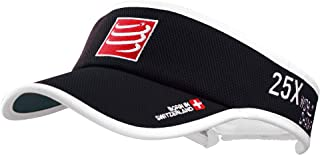 Compressport 中性 60克轻量空顶帽遮阳帽太阳帽鸭舌帽户外运动帽跑步帽子Visor CS