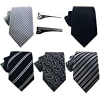 豪华男式领带系列礼盒,5 件意大利面料领口,2 条现代领带,手工设计师礼品盒