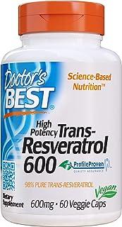 Doctor's Best 反式白藜芦醇600,素食,不含麸质,不含大豆,600毫克,60粒素食胶囊 (DRB-00416)