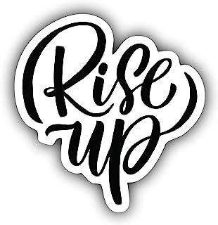 A&B Traders Rise UP 笔记本电脑贴纸 - 励志汽车贴花,水瓶贴纸,可爱汽车配件贴纸,适用于手机,笔记本电脑的名言贴纸,MacBook Air/专业皮肤贴纸(4 英寸)