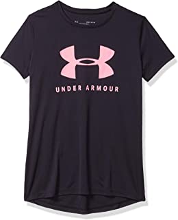 Under Armour 安德玛 女童 Tech 纯色图形大标志短袖衬衫