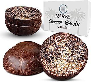 椰子碗   (2 件)天然椰子碗   糖果盘、装饰碗、钥匙盘   椰子壳碗   碗   碗 / 坚果和钥匙架(黑色)